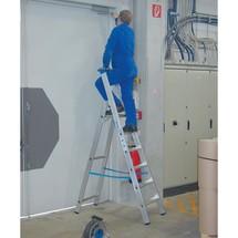 Stufen-Stehleiter KRAUSE® Profi, 1-seitig begehbar