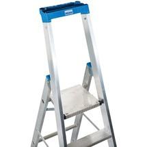 Stufen-Stehleiter KRAUSE® Profi, 1-seitig begehbar, mit Traverse und Rollen