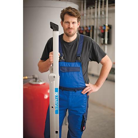 Stufen-Stehleiter ZARGES Compact. Einseitig, Ablageschale