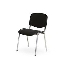 Stuhl mit Vierfußgestell in schwarz oder chrom
