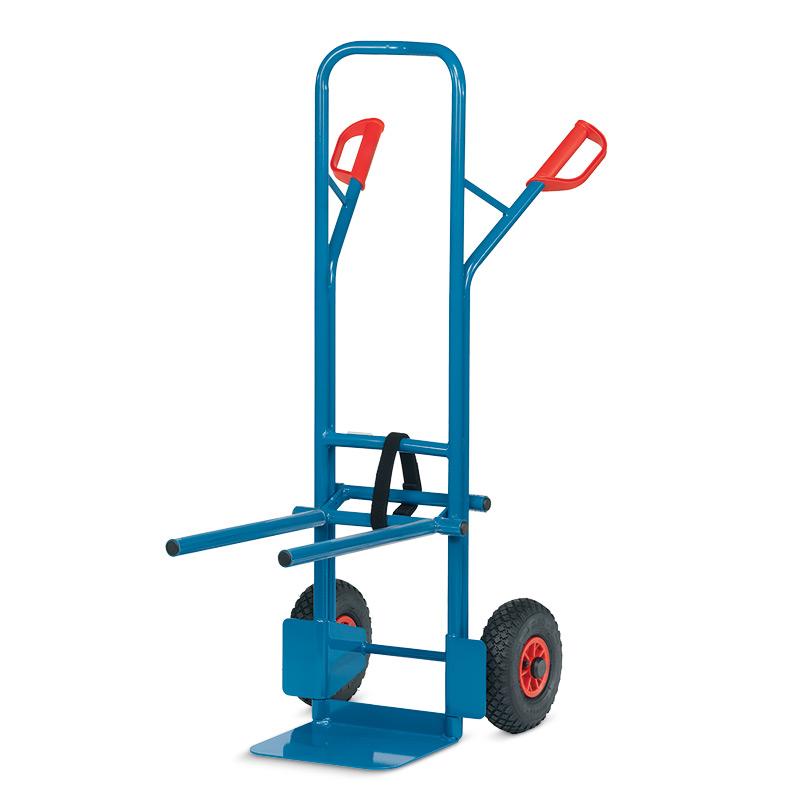 Stuhlkarre fetra® aus Stahl. Tragkraft 300 kg, Luftreifen