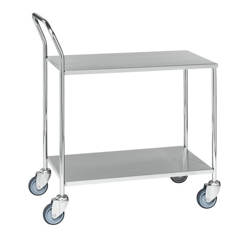 stůl vozík z nerezové oceli