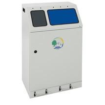 stumpf® compacte recyclingcontainer met voethendels