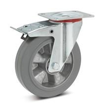 Stuurwiel Wicke Premium,elastisch volrubber, niet-strepend,vastz . Cap.180-350kg