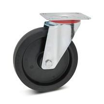 Stuurwiel Wicke van elastisch volrubber. Capaciteit 180 - 350 kg
