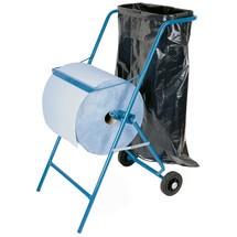 Supporto a pavimento con sostegno per sacco della spazzatura