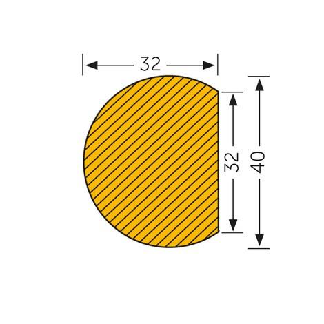 Surface guard, circular, self-adhesive
