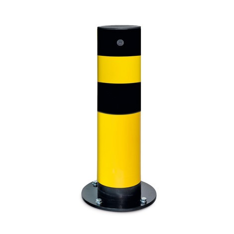 Swing impact protection bollard, outdoor use