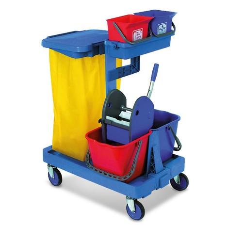 Systeem trolley set Harema®, 4 emmers