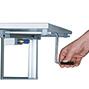System-Arbeitstisch, Höhenverstellung mit Klemmen, Breite 1500 mm