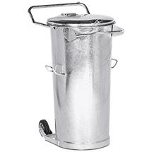 System-Mülleimer, Stahl, 110 Liter, fahrbar