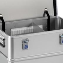 Système de cloisons de séparation pour caisse de transport Profi en alu