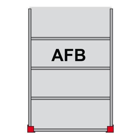Système de plates-formes de stockage modulaire, travée auxiliaire 350 kg/m², Lxl 4000 à 4000 mm