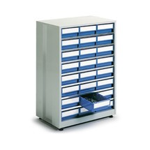 Système de rangement à tiroirs, 24tiroirs