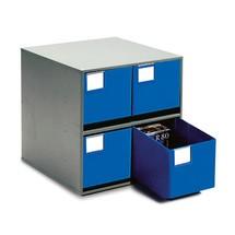 Système de rangement à tiroirs, 4tiroirs