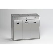 Système de tri recyclable VAR® en acier inoxydable, 144 litres