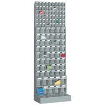 Systèmes de rangement à casiers rabattables avec socle