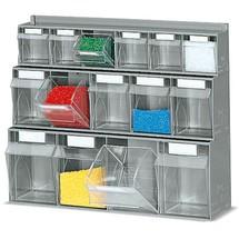 Systèmes de rangement à casiers rabattables, étagère murale