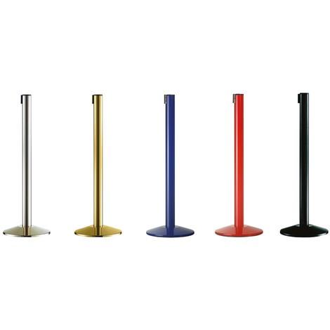 Systém vymedzovacích stĺpikov Classic, čierne stĺpiky
