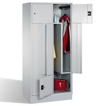 Szafa na ubrania ZC+Pze stałymi drzwiami, 4 komory, wys. xszer. xgł. 1800 x820 x500 mm
