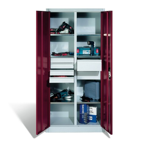 Szafa narzędziowa C+P, szuflady 4x86 + 2x174 mm, 6 półek, szerokość 930 mm