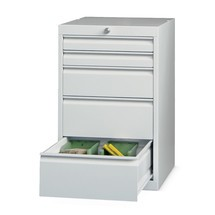 Szafa z szufladami PAVOY, wysokość 800 mm, szuflady 2 x 75 + 1 x 150 + 2 x 200 mm, szerokość 500 mm
