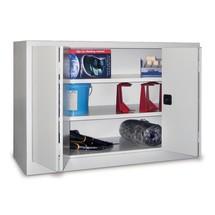 Szafa ze składanymi drzwiami PAVOY z 2 półkami, wys. xszer. xgł. 1000 x1500 x500 mm