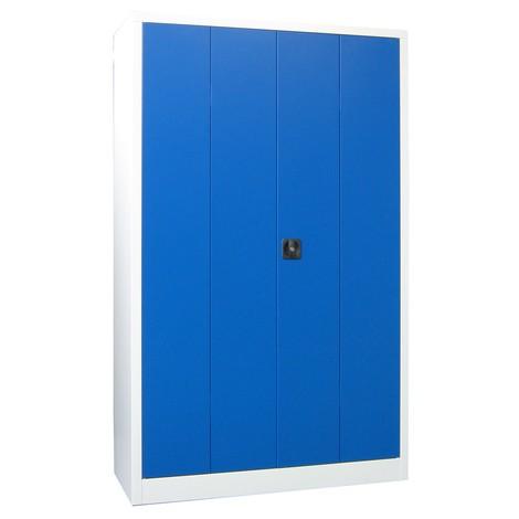 Szafa ze składanymi drzwiami PAVOY z 4 półkami, wys. xszer. xgł. 1950 x1500 x500 mm