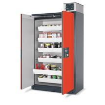 szafka bezpieczeństwa asecos® Q-Pegasus/typ 90, 4 szuflady wysuwane, wys. x szer. x gł. 1 955 x 1 200 x 615 mm