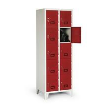 szafka Portofino z panelem wentylacyjnym, 2 x 5 przegródek, wys. wys. x szer. x gł.. 1 800 x 615 x 500 mm, z nóżkami