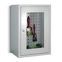 Szafka wisząca PAVOY z okienkiem, wys. xszer. xgł. 600 x400 x300 mm, perforowana tylna ścianka