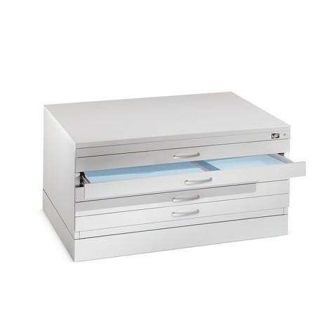 Szafka zpłytkimi szufladami C+P, 10 szuflad DIN A0