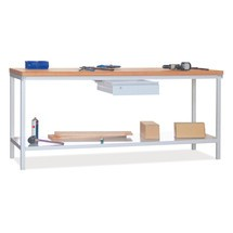 Table d'établi PAVOY avec tiroir+tablette, HxlxP 900x2000x700mm