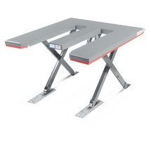 Table élévatrice à ciseaux FLEXLIFT, plate, en forme de E