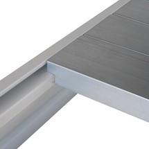 Tablette pour rayonnage grande portée, avec panneaux d'acier
