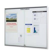 Tablica organizacyjna ze szklanymi drzwiami przesuwnymi