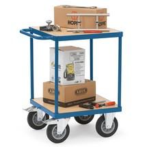 Tafel- en plateauwagen fetra® voor zware lasten, capaciteit 400 of 500 kg
