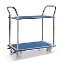 Tafelwagen BASIC met 2 bodems van plaatstaal. Capaciteit 120 kg