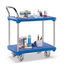 Tafelwagen BASIC met 2 kunststof bodems. Capaciteit 200 kg