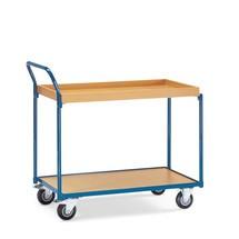 Tafelwagen fetra®, 1 houten legbord + 1 houten bak