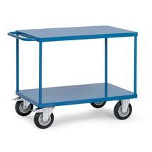 Tafelwagen fetra® met 2 stalen legborden. Capaciteit tot 500 kg