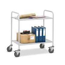 Tafelwagen fetra® voor ordners, 2 legborden zonder achterwand. Capaciteit 150 kg