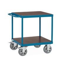 Tafelwagen fetra® voor zware lading, met 2 etages. Capaciteit 1200 kg