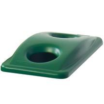 Tampa de plástico para caixote de reciclagem Rubbermaid® Slim Jim®, 60 e 87 litros, com orifício de inserção