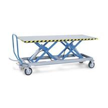 Tandem nożycowe wózki stołowe