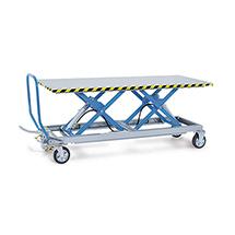 Tandemscheren-Hubtischwagen. Hubbereich 460 - 1070 mm
