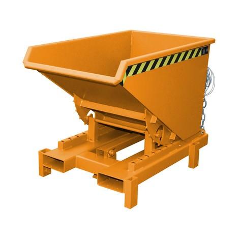 Tanque basculante resistente, capacidade de carga 4.000 kg, pintado