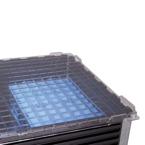 Tapa apilable para marco de prolongación de plástico
