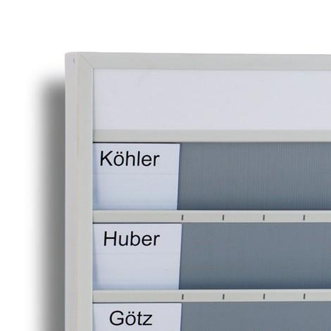Tarjetas para planificador de pared