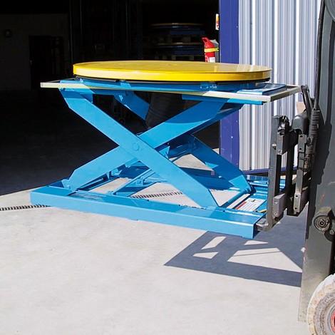 Tasche retrattili per carrelli elevatori per posizionatori pallet a forbice ad aria compressa